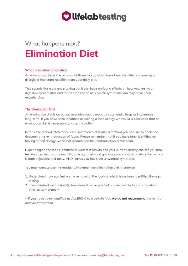 Elimination diet help and advice